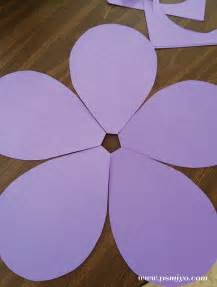 Giant Paper Flower Petal Template