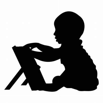 Silhouette Boy Playing Clipart Transparent Svg Vector