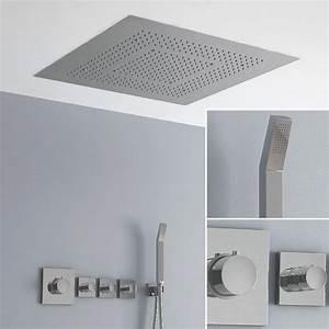 Douche Encastrable Plafond : pack promo douche de pluie aqua 2 60x60 cm ~ Premium-room.com Idées de Décoration