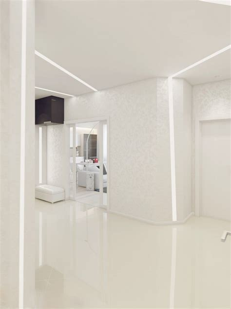 Sparkling White Apartment With Hideaway Home Offices by Sparkling White Apartment With Hideaway Home Offices By