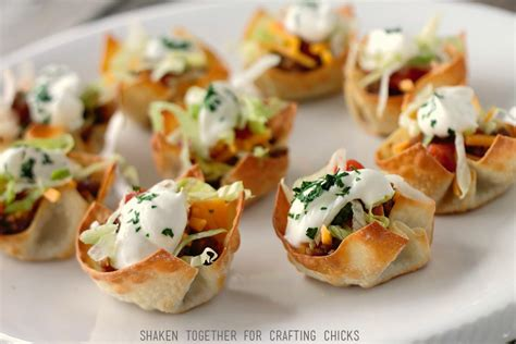 Mini Taco Cups  A Quick & Easy Appetizer  The Crafting