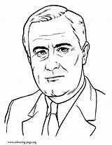 Coloring Roosevelt Franklin President Presidents Pages Cartoon Clipart Colouring Office Library Popular Awesome Coloringhome sketch template