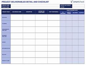 Tools for defining and tracking project deliverables for Project deliverable template