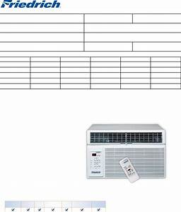 Friedrich Air Conditioner Room Air Conditioners User Guide