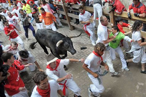 Pamplona Spain San Fermin Running Of The Bulls Places