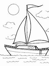 Sailboat Coloring Familycorner Pages Cliparts Ship Corner Staff Posts Summer sketch template