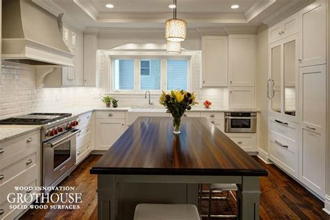 Wenge Wood Kitchen Island Countertop in Glen Ellyn, IL