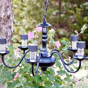 Kronleuchter Selber Machen : garten kronleuchter solarlampen ideen upcyceln garden ~ Michelbontemps.com Haus und Dekorationen