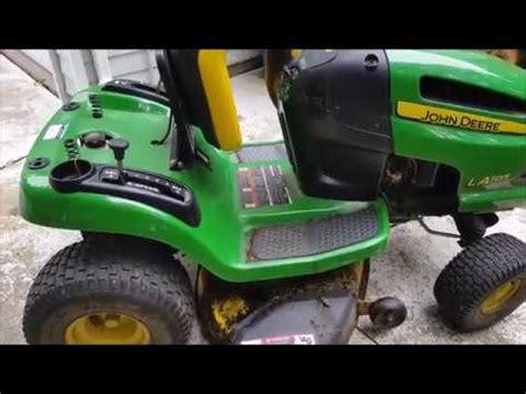 diy john deere lawn mower deck support eyebolt repair