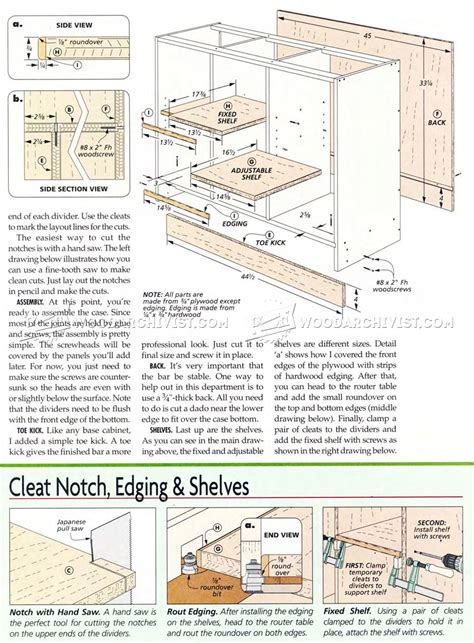 Bar Plans by Home Bar Plans Woodarchivist