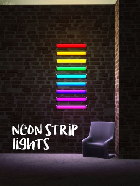 neon strip lights  picture amoebae sims  updates