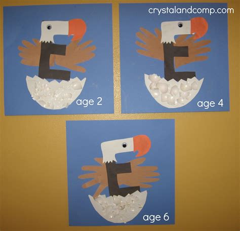 letter of the week a preschool craft for the letter e 374 | E is for Eagle 12 crystalandcomp