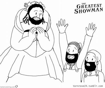 Showman Greatest Coloring Pages Lettie Printable Tornrose24