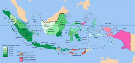 indonesia religion map map  indonesia religion south