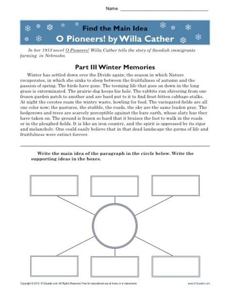 Central Idea Worksheets For High School Central Best Free Printable Worksheets