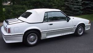 Oxford White 1990 Ford Mustang Gt Convertible