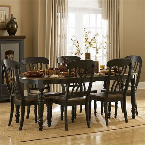 ohana dining room set black homelegance furniture cart