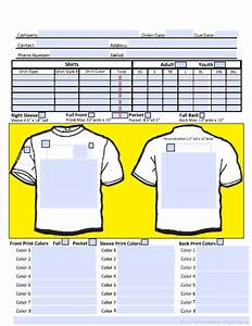 free screen printing order form With screen printing invoice template