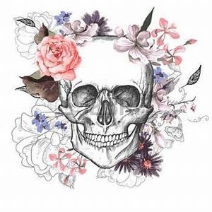 Tete De Mort Fleur : tatouage tete de mort jour skull and flowers of the dead id es tatouages tatouages t te de ~ Mglfilm.com Idées de Décoration