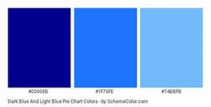 Dark Blue And Light Blue Pie Chart Color Scheme ame: Blue ...