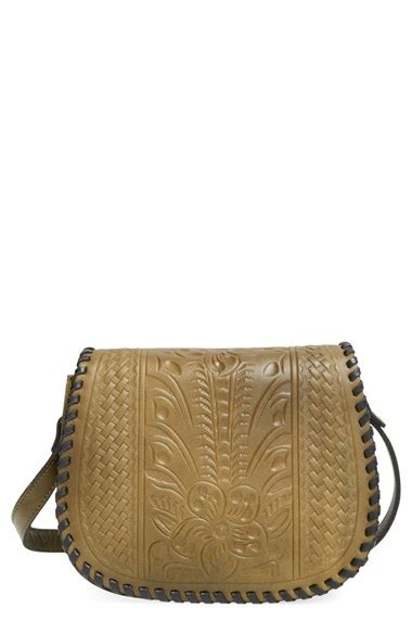 lyst patricia nash salerno tooled leather crossbody bag  green