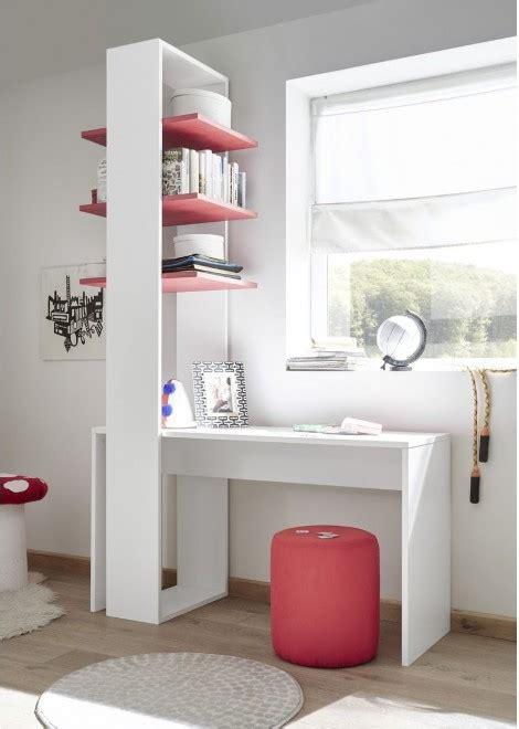bureau et etagere bureau étagère design coloris blanc et