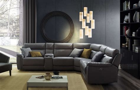 tony 5 sectional sofa with power recliners