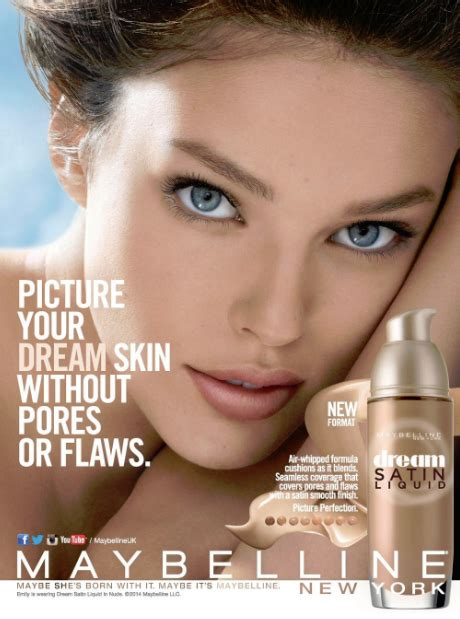 magazine covers  twitter emilydidonato maybelline dream satin liquid foundation ad