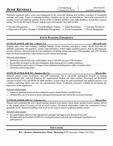event planner resume example professional life resumes With event planner resume
