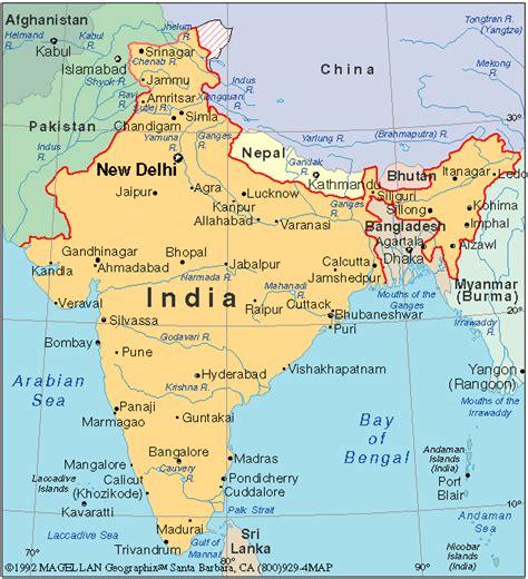 Carte Politique Du Monde Indien by Carte G 233 Ographique Inde 187 Vacances Arts Guides Voyages