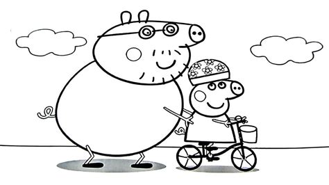 coloring pages peppa pig family coloring pages