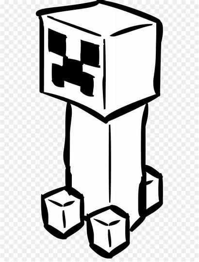 Minecraft Creeper Coloring Drawing Clip Clipart Cartoon