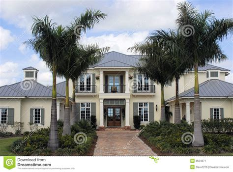 Style Home West Indies Style Luxury Home Stock Image Image 8624671