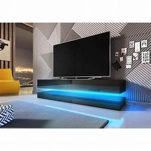 Tele 190 Cm : meuble tv hifi meuble tv design suspendu fly 140 cm 2 tiroirs co ~ Teatrodelosmanantiales.com Idées de Décoration