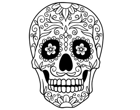 The Day Of The Dead Coloring Pages - Eskayalitim