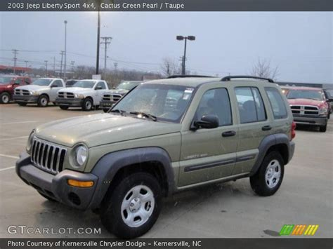 2003 green jeep liberty cactus green pearl 2003 jeep liberty sport 4x4 taupe