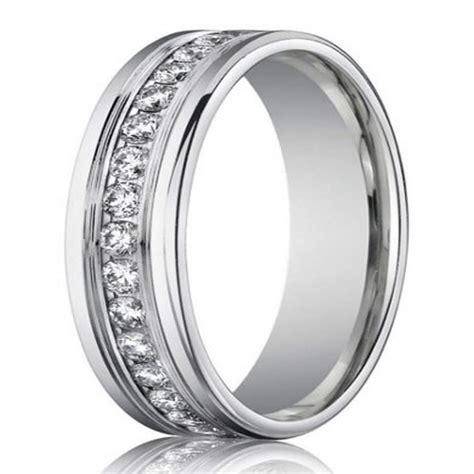 wedding rings men 4mm men s designer white gold eternity ring 1049