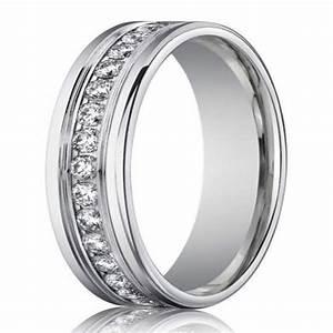 4mm mens designer white gold diamond eternity ring With designer wedding rings men