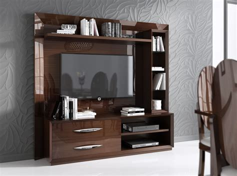 Made in Spain Walnut Protective Gloss Lacquer Wall Unit