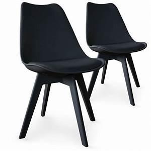 Chaise Scandinave Noir : chaises scandinave colors noir lot de 2 pas cher scandinave deco ~ Teatrodelosmanantiales.com Idées de Décoration