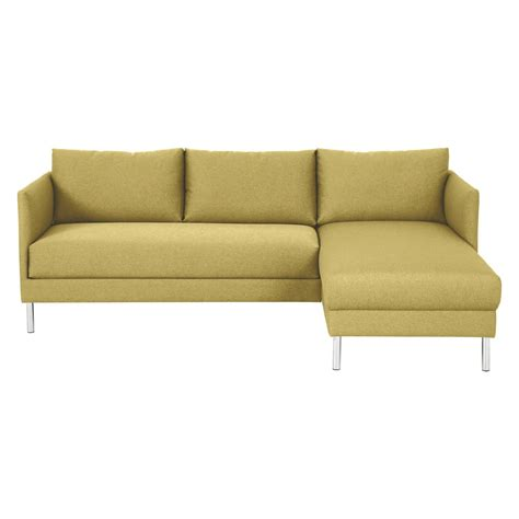 chaises habitat hyde yellow fabric right arm chaise sofa metal legs buy