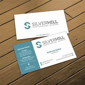 Modern bold business card design for silver hill for Church business card designs