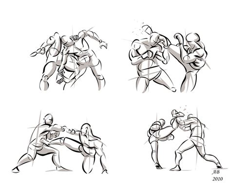 Fighting Poses In Photoshop01 By Alexbaxthedarkside On
