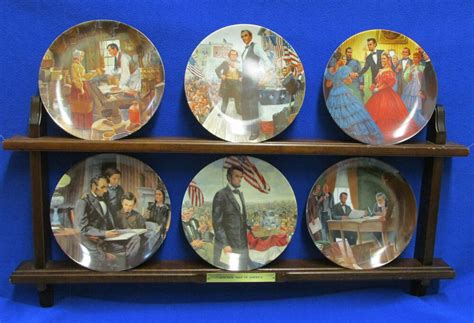 plate set president lincoln knowles collector plates