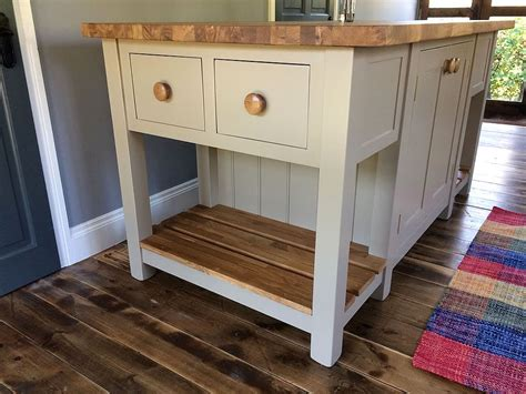 freestanding kitchen island with end drawers