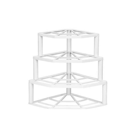 tier corner plate stand white shelving racks white kitchen storage corner shelves