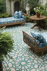le tapis d39exterieur un accessoire beaucoup de possibilite With tapis exterieur avec canapé mobilier
