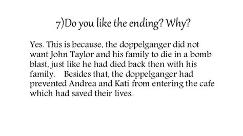 Do You Like The Ending? Why? For Those Who Don't