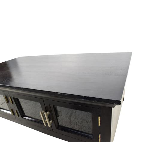 black wooden storage coffee table tables