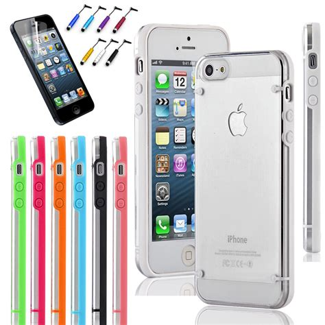 iphone 5s cases slim transparent clear tpu cover for